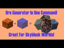 Ore Generator In One Command! [1.12 Minecraft] Minecraft Map & Project