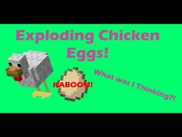 EXPLODING CHICKEN EGGS! | Using Command Blocks! [1.12] Minecraft Map & Project