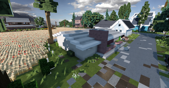 Popular Server Project : | 50's Houses style |      - The Meadowbrook -