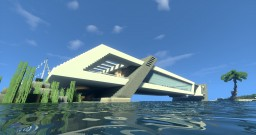 Modern house on the water Minecraft Map & Project