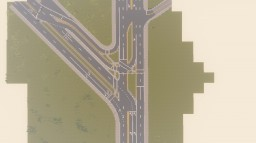 Complex Road Intersection on Project borivia Minecraft