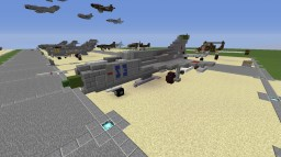 "MiG-21 ""Fishbed"" (Soviet, East german and Finnish) Minecraft"