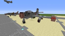 "F-84 ""Thunderjet"" Minecraft"