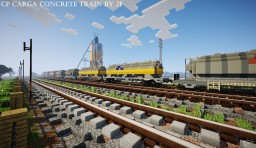CP Carga Concrete Train Unloading Minecraft