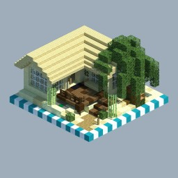 Beach House [CHUNK HOUSE] Minecraft Map & Project