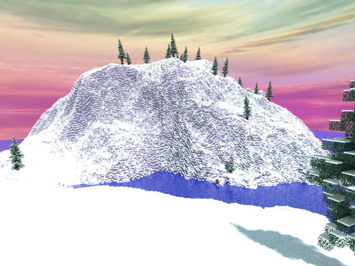 A Snowy Island