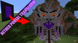Goblin Nether Portal Statue + Schematic Minecraft Map & Project