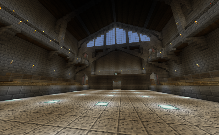 Arena floor facing press box