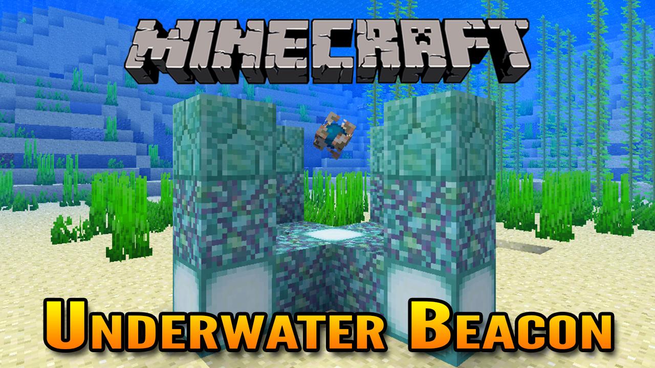 Minecraft 1 13 Underwater Conduit Beacon Showcase Aquatic Update