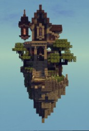 Floating island house Minecraft Map & Project