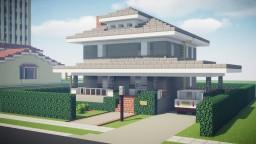Foursquare Suburban House Minecraft Map & Project