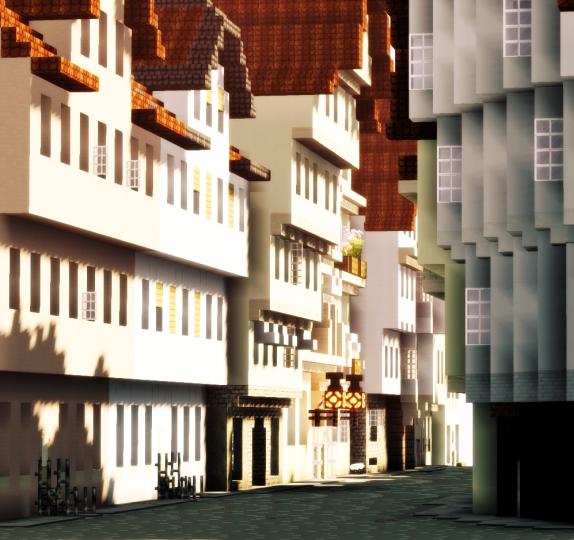 Looking from Martinsplatz inside the street