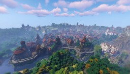 Falcon's Rock - A great realistic medieval world 2.0.1 (fully furnished) MC 1.12.2 - file size 613 MB Minecraft Map & Project