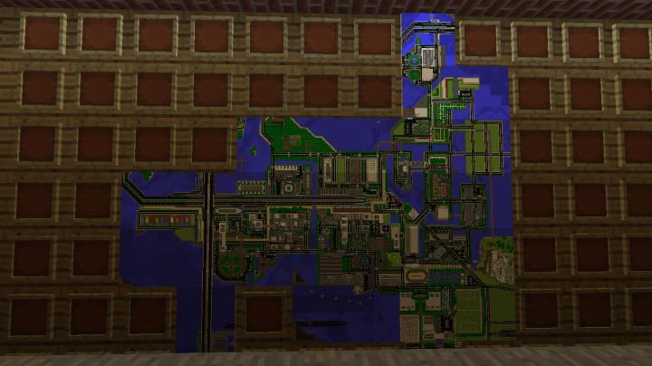 City map in S.H.I.E.L.D. base