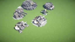 Japanese Anti Aircraft  - Secondary Pack (2:1 scale) Minecraft Map & Project
