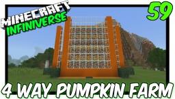 """4 Way Pumpkin Farm"" [59] Minecraft Bedrock Infiniverse Minecraft Map & Project"