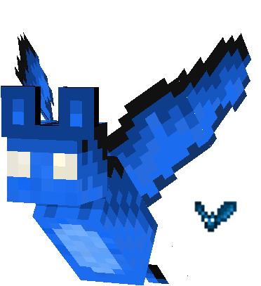 One of the custom bats. I plan on adding other mobs to the game too. This bat represents the cave bat
