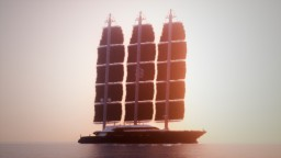 Yacht - Black Pearl { 1:1 scale replica } + DOWNLOAD Minecraft Map & Project