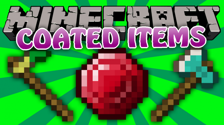Popular Mod : Coated Items - Ruby, Powerful Gold and More!