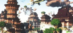 Fantasy Asian Build: Dragon Isles Minecraft Map & Project
