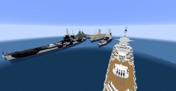 Richelieu Class Battleship All Variants Minecraft Map & Project