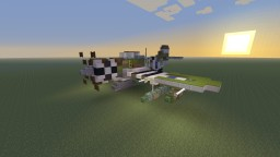 WWII U.S Republic P-47 Thunderbolt, Regular OD and Bare steel Minecraft