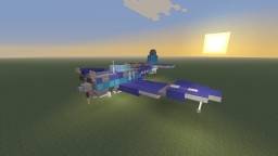 WWII U.S Douglas SBD Dauntless dive bomber Minecraft Map & Project