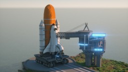 Spaceshuttle launchpad Minecraft Map & Project