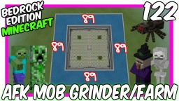 AFK Concept Mob Grinder Farm Bedrock Edition Minecraft Map & Project