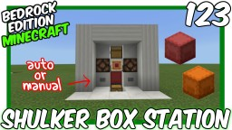 Automatic Shulker Box Loader Unloader Bedrock Edition Minecraft Map & Project