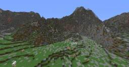 Huge Survival Mountain Range with Cliffs and Hidden Valley Minecraft Map & Project