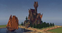 Hill Mansion on creative plot Minecraft Map & Project
