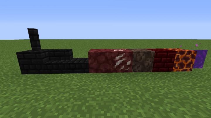 Black Nether Bricks New Textures Edition