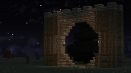 Simple Medival Gate Minecraft