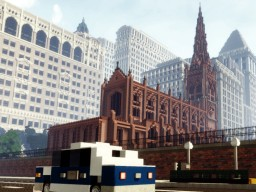 Trinity Church, New York, USA Minecraft Map & Project