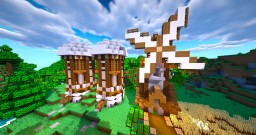 Rustic House with Farm Exterior Minecraft Map & Project