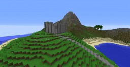 Large Survival Island with Volcano, Custom Trees and Structures Minecraft Map & Project