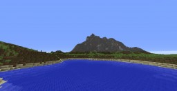 Survival Island with Beaches, Cliffs, Caverns, a Volcano, and Massive Undersea Cave Minecraft Map & Project