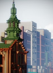 Catholic Church of the Transfiguration, Chinatown, New York, USA Minecraft