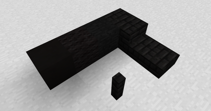 Black netherbrick, along with other black blocks
