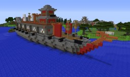 Atakebune Japanese 16th century Ironclad Minecraft Map & Project
