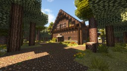 Modern Lakeside Cabin Minecraft Map & Project