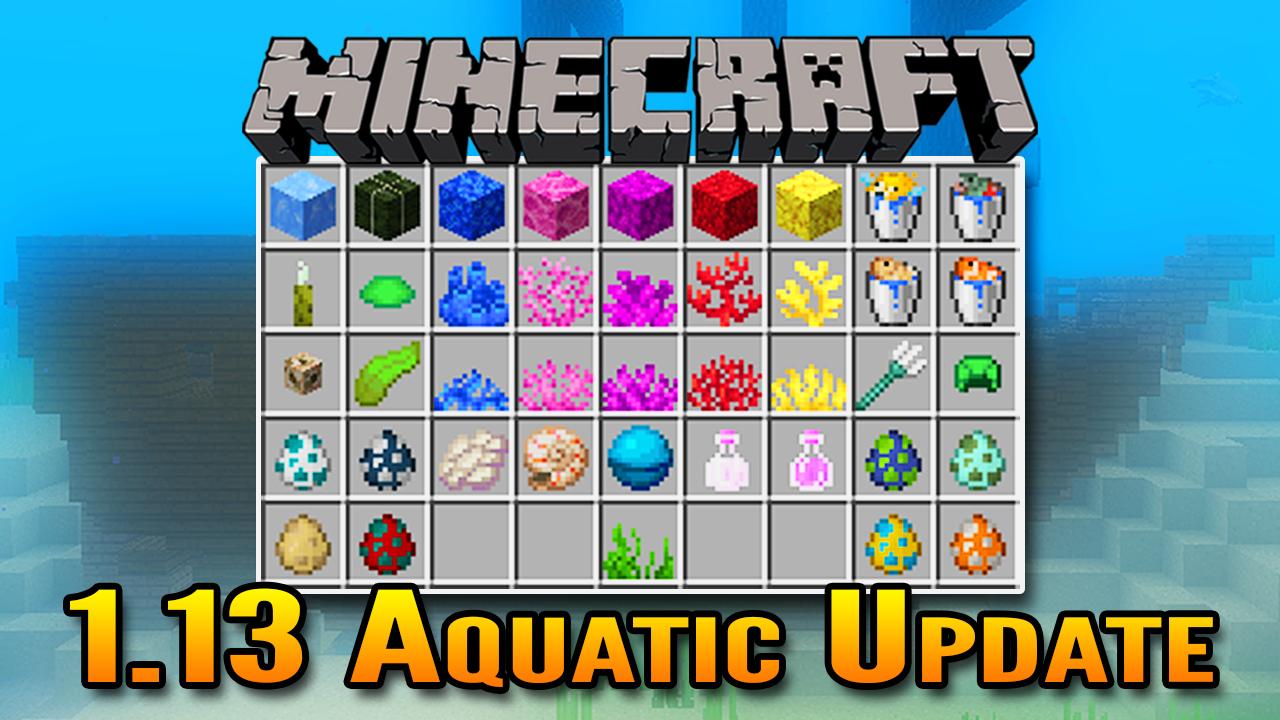 Minecraft 1 13 Aquatic Update Overview Underwater Beacons