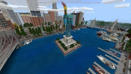 Patriotville & Freedom County City ported to PE Minecraft Map & Project