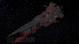 "Space battleship ""USS Wisconsin"" (or Lil ship) Minecraft Map & Project"