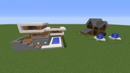 Modern House And A Normal House Minecraft Map & Project