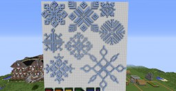 Set of 8 Snowflakes Minecraft Map & Project