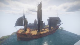 Medieval Boat (Huge) - Schematic Minecraft Map & Project