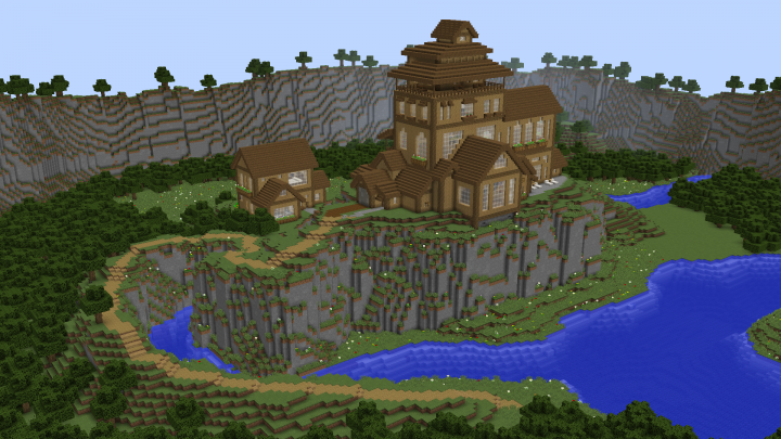 Popular Project : Cliffside Wooden Mansion