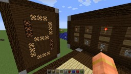 Seven segment display with input panel Minecraft Map & Project